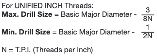 UNIFIED INCH Threads